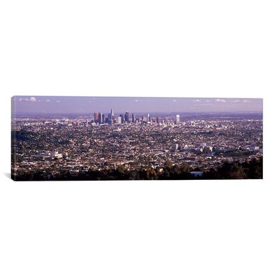 """iCanvasART Panoramic Aerial View of a Cityscape, Los Angeles, California 2010 Photographic Print on Canvas - Size: 12"""" H x 36"""" W x 0.75"""" D at Sears.com"""