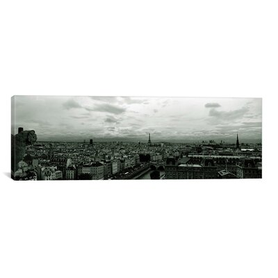 Panoramic Aerial View of the Seine River from Notre Dame, Paris, France Photographic Print on Canvas Size: 12