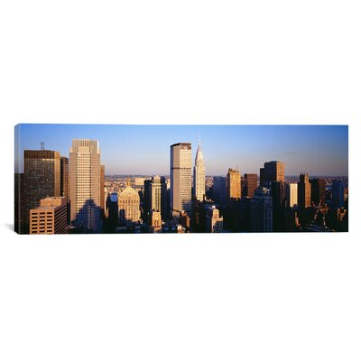 """iCanvasART Panoramic Afternoon Midtown Manhattan New York NY Photographic Print on Canvas - Size: 24"""" H x 72"""" W x 1.5"""" D at Sears.com"""