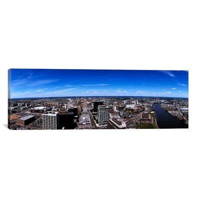 Panoramic Aerial View of a Cityscape, Newark, Essex County, New Jersey Photographic Print on Canvas Size: 16
