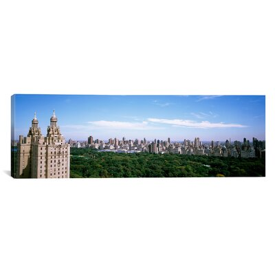 Panoramic Cityscape of New York Photographic Print on Canvas Size: 24