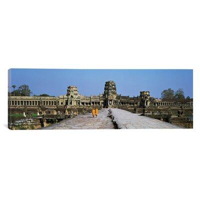 Panoramic Angkor Wat Cambodia Photographic Print on Canvas Size: 24