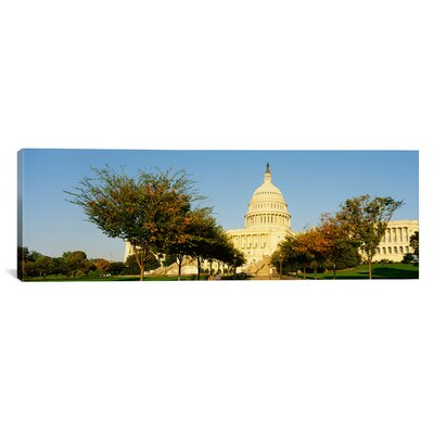 Panoramic Capitol Building, Washington DC, District of Columbia Photographic Print on Canvas Size: 20