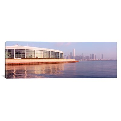 Panoramic Building Structure Near the Lake, Shedd Aquarium, Chicago, Illinois Photographic Print on Canvas Size: 16