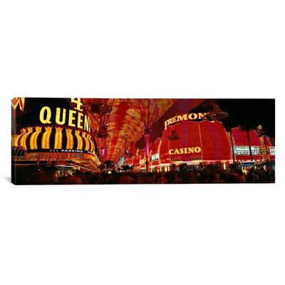 Panoramic Fremont Street, Las Vegas, Nevada Photographic Print on Canvas Size: 12