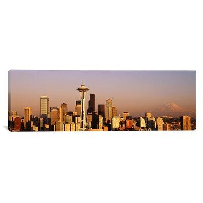 Panoramic Skyline Seattle, Washington Photographic Print on Canvas Size: 30