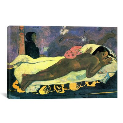 """'Girl in Bed' by Paul Gauguin Painting Print on Canvas Size: 8"""" H x 12"""" W x 0.75"""" D 1288-1PC3-12x8"""