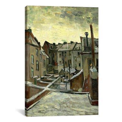 'Houses Seen from the Back' by Vincent Van Gogh Painting Print on Canvas Size: 18