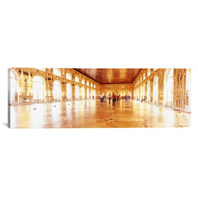 Panoramic Catherine Palace Ballroom, St. Petersburg, Russia Photographic Print on Canvas Size: 20