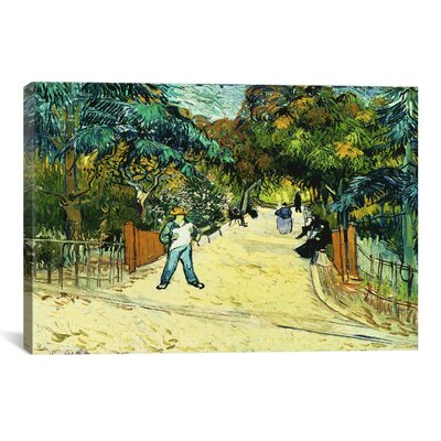 'Entrance to the Public Gardens in Arle' by Vincent van Gogh Painting Print on Canvas Size: 26