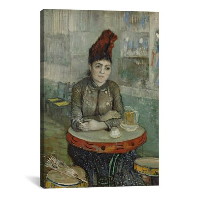 'In the Cafe - Agostina Segatori in Le Tambourin' by Vincent van Gogh Painting Print on Canvas Size: 40