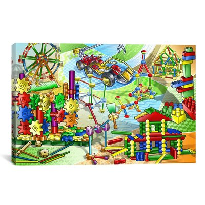 Construction Toys Children Painting Print on Canvas 7113-1PC3-12x8