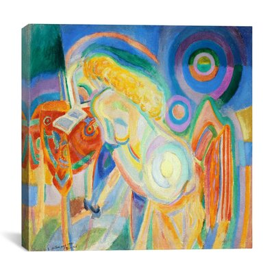 """Femme Nue Lisant Nude Woman Reading"""" by Robert Delaunay Graphic Art on Canvas 14145-1PC3-12x12"""