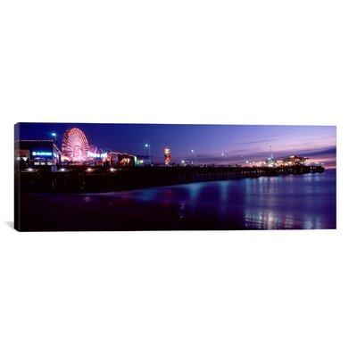 Panoramic 'Santa Monica Pier, Santa Monica, California' Photographic Print on Canvas Size: 12