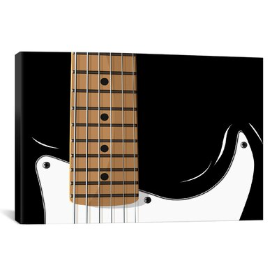 'Electric Guitar' by Michael Tompsett Graphic Art on Canvas 12857-1PC3-12x8