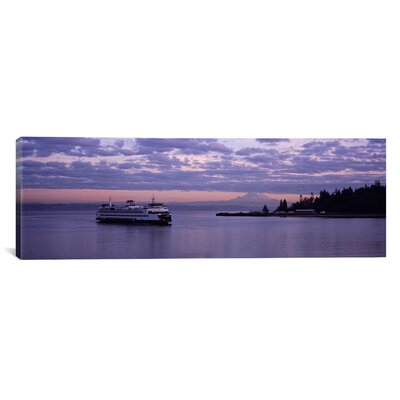 """iCanvasART Panoramic Ferry in the Sea, Bainbridge Island, Seattle, Washington State Photographic Print on Canvas -Size:30"""" Hx90"""" Wx1.5"""" D at Sears.com"""