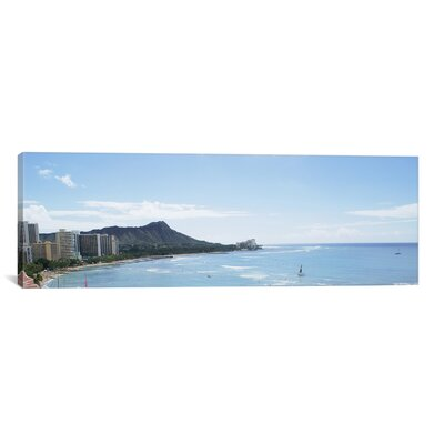 Panoramic Honolulu Skyline Cityscape Photographic Print on Canvas Size: 12
