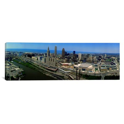 """iCanvasART Panoramic Cleveland Ohio Aerial Photographic Print on Canvas - Size: 30"""" H x 90"""" W x 1.5"""" D at Sears.com"""