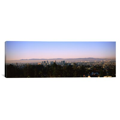 Panoramic High Angle View of a Cityscape, Oakland, California Photographic Print on Canvas Size: 20
