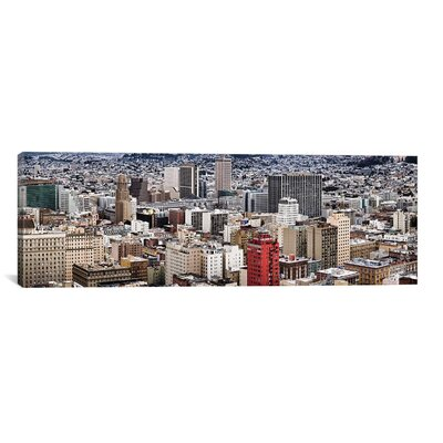 Panoramic 'City Viewed from the Nob Hill, San Francisco, California' Photographic Print on Canvas Size: 20