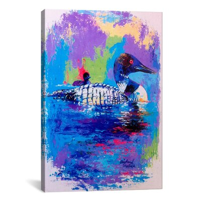 Ducks by Richard Wallich Painting Print on Canvas Size: 26