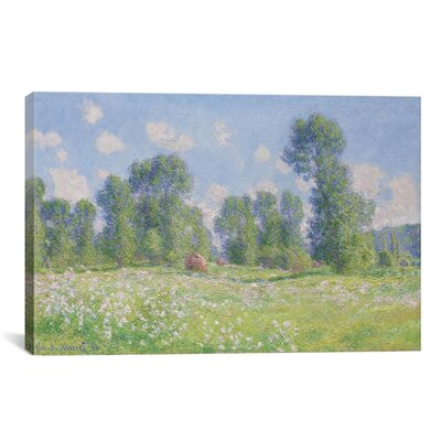Effet De Printemps a Giverny 1890 by Claude Monet Painting Print on Canvas Size: 12