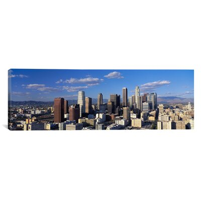 Panoramic Daylight Skyline Los Angeles, California Photographic Print on Canvas Size: 20