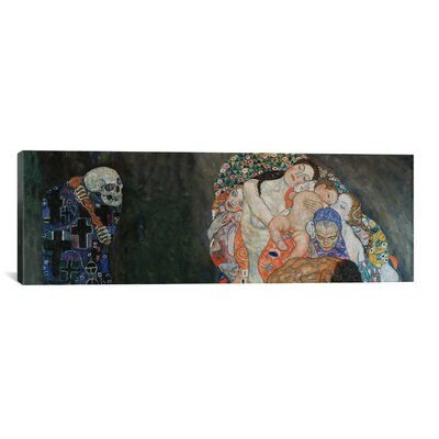 'Death and Life' by Gustav Klimt Painting Print on Canvas Size: 16