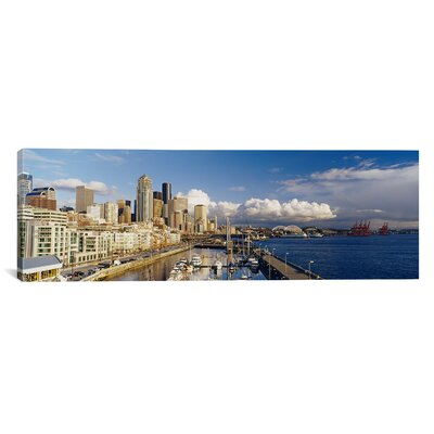 Panoramic Seattle, Washington State Photographic Print on Canvas Size: 12