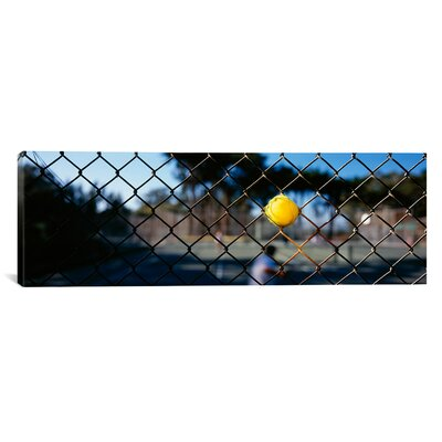 Panoramic Close-up of a Tennis Ball Stuck in a Fence, San Francisco, California Photographic Print on Canvas Size: 20