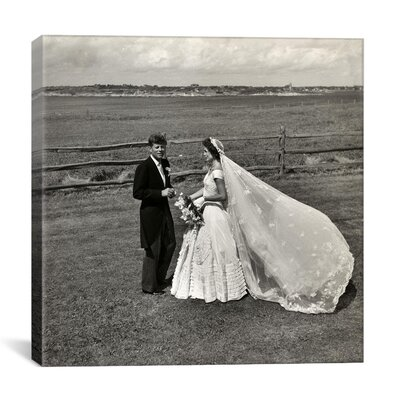 John F. Kennedy and Jacqueline Bouvier Kennedy on their Wedding Day Photographic Print on Canvas 11317-1PC3-12x12
