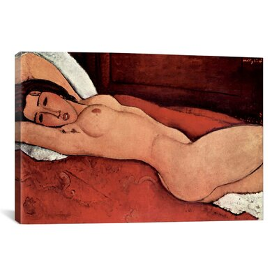 'Reclining Nude' by Amedeo Modigliani Painting Print on Canvas 1464-1PC3-12x8