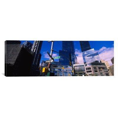 Panoramic Columbus Circle, New York City, Manhattan Photographic Print on Canvas Size: 16