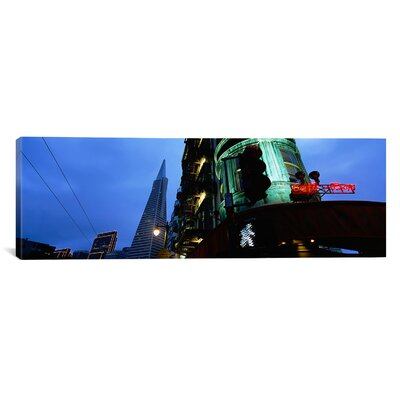 Panoramic Sentinel Building, San Francisco, California Photographic Print on Canvas Size: 20