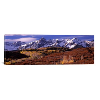 """iCanvasART Panoramic Mountains Covered with Snow, Telluride, Colorado Photographic Print on Canvas - Size: 20"""" H x 60"""" W x 0.75"""" D at Sears.com"""