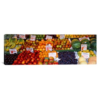 """iCanvasART Panoramic 'Pike Place Market Seattle Washington' Photographic Print on Canvas - Size: 30"""" H x 90"""" W x 1.5"""" D at Sears.com"""