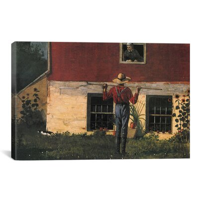'Rustic Courtship (in the Garden) 1874' by Winslow Homer Painting Print on Canvas Size: 26