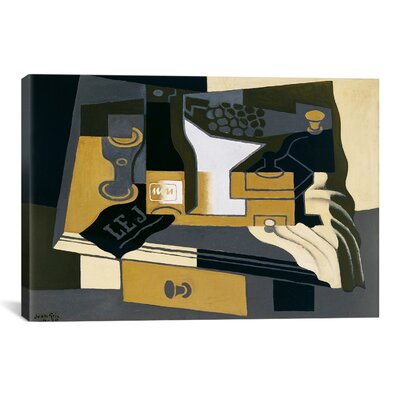 'Le Moulin a Cafe (Coffee Grinder)' by Juan Gris Painting Print on Canvas 14066-1PC3-12x8