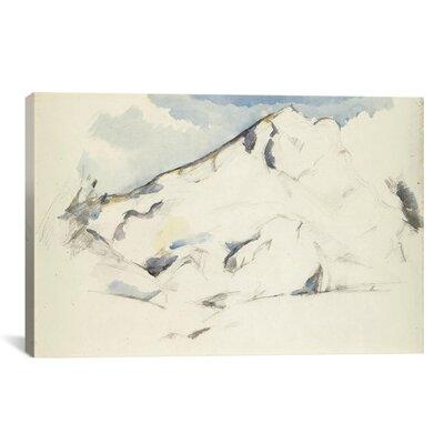 'La Montagne Sainte-Victoire (Fruits Et Feuillage) 1900-1902' by Paul Cezanne Painting Print on Canvas Size: 40