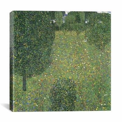 'Landscape Garden (Meadow)' by Gustav Klimt Painting Print on Canvas Size: 26