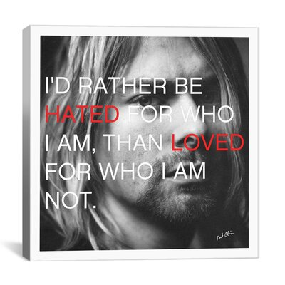 "Icons, Heroes and Legends Kurt Cobain Quote Photographic Print on Canvas Size: 12"" H x 12"" W x 1.5"" D 4110-1PC6-12x12"