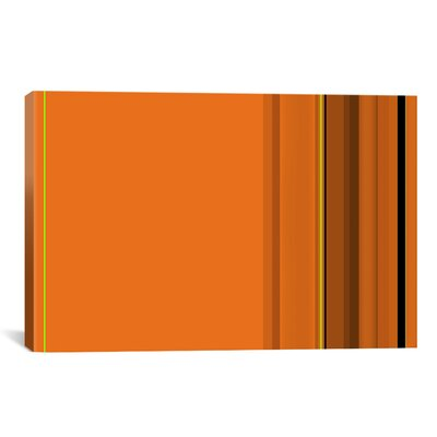 Pumpkin Striped Graphic Art on Canvas in Orange Size: 18