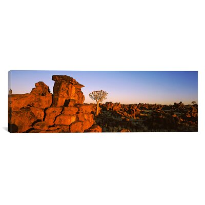 Panoramic Devil's Playground, Namibia Photographic Print on Canvas Size: 16