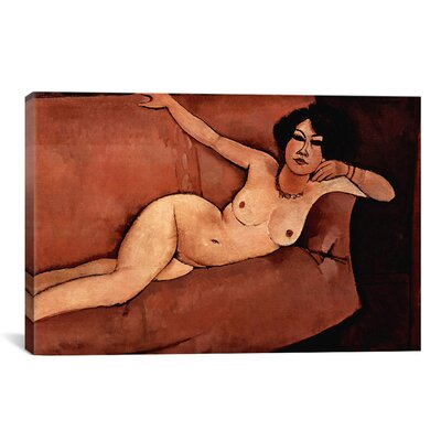 'Nude on Sofa (Almaisa)' by Amedeo Modigliani Painting Print on Canvas Size: 18