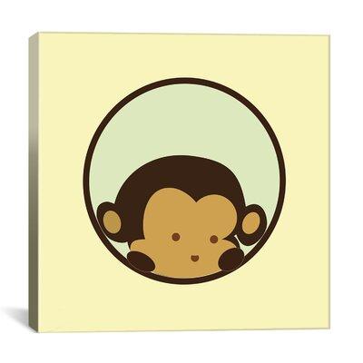 icanvas Kids Children Monkey Face Canvas Wall Art - Size: 18