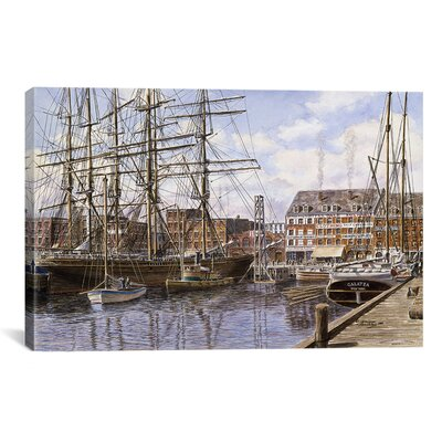 'New York City, Pier 28 California 1876' by Stanton Manolakas Painting Print on Canvas Size: 12