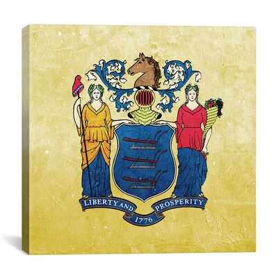 Flags New Jersey Light Grunge Graphic Art on Canvas FLG272-1PC3-12x12