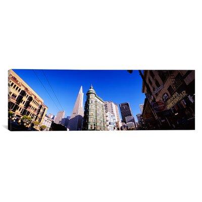 Panoramic Columbus Avenue, San Francisco, California Photographic Print on Canvas Size: 12