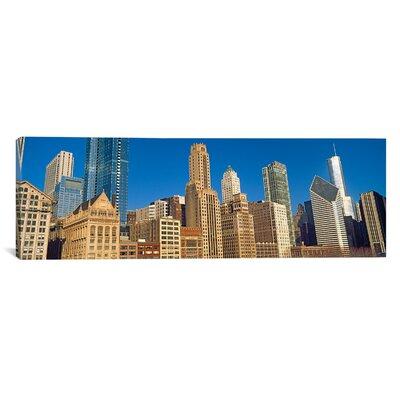 Panoramic Michigan Avenue, Chicago, Illinois Photographic Print on Canvas Size: 12