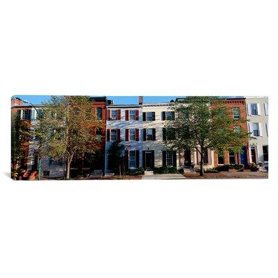 Panoramic Row Homes, Philadelphia Photographic Print on Canvas Size: 16